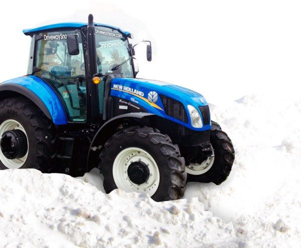 blue new holland tractor - Driveway Snow Team - Midhurst Ontario
